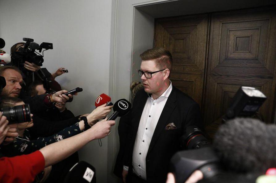 Eduskuntaryhmän puheenjohtaja Antti Lindtman on yksi pääministerispekulaatioissa pyörivistä nimistä, mutta vahvimpana ehdokkaana pidetään Sanna Marinia.