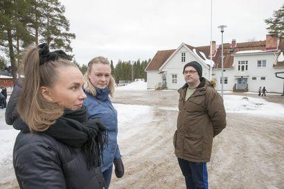 Lumi pukataan Nappulahiihtojen laduille vaikka käsipelillä – Tyrnävän Murron kylässä keksitään keinot järjestää perinteikäs lasten liikuntatapahtuma