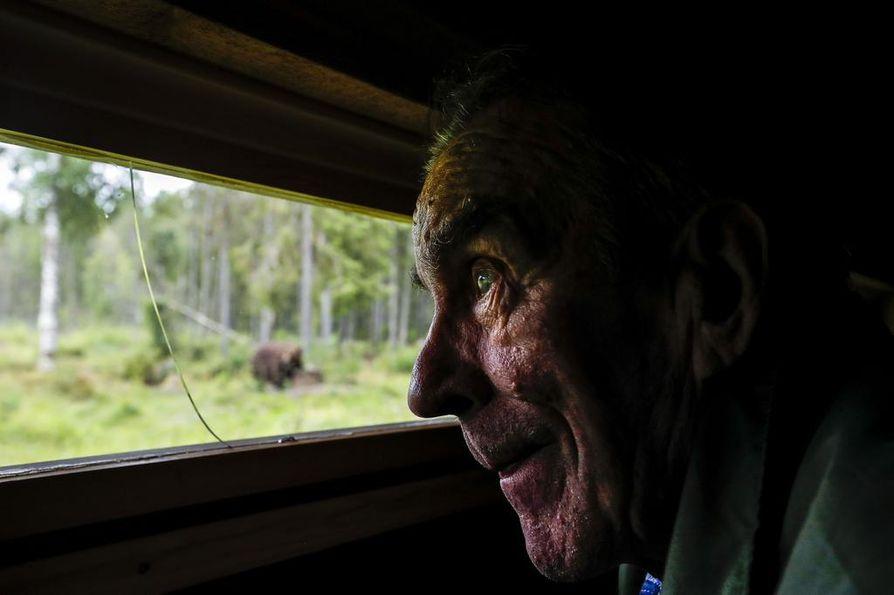 Eero Seppänen on seurannut karhuja 20 vuotta katselukopeillaan. Sinä aikana käsitys metsän kuninkaasta on muuttunut täysin.
