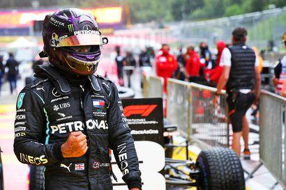 Hamilton liukasteli ylivoimaisestipaalulle Itävallassa - Bottas ei löytänyt jarrua
