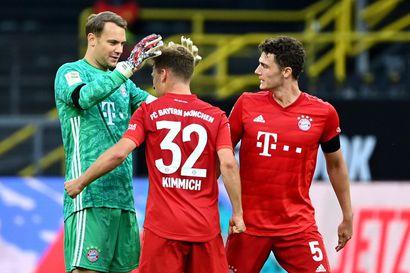 """Bayern tarttui tiukasti kiinni mestaruuteen – Dortmund kaatui Kimmichin """"uran parhaalla maalilla"""""""