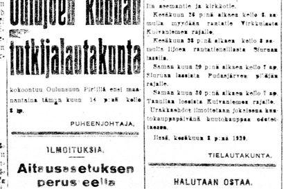 Vanha Kaleva: Kemin seudun sahoilla lakkoillaan
