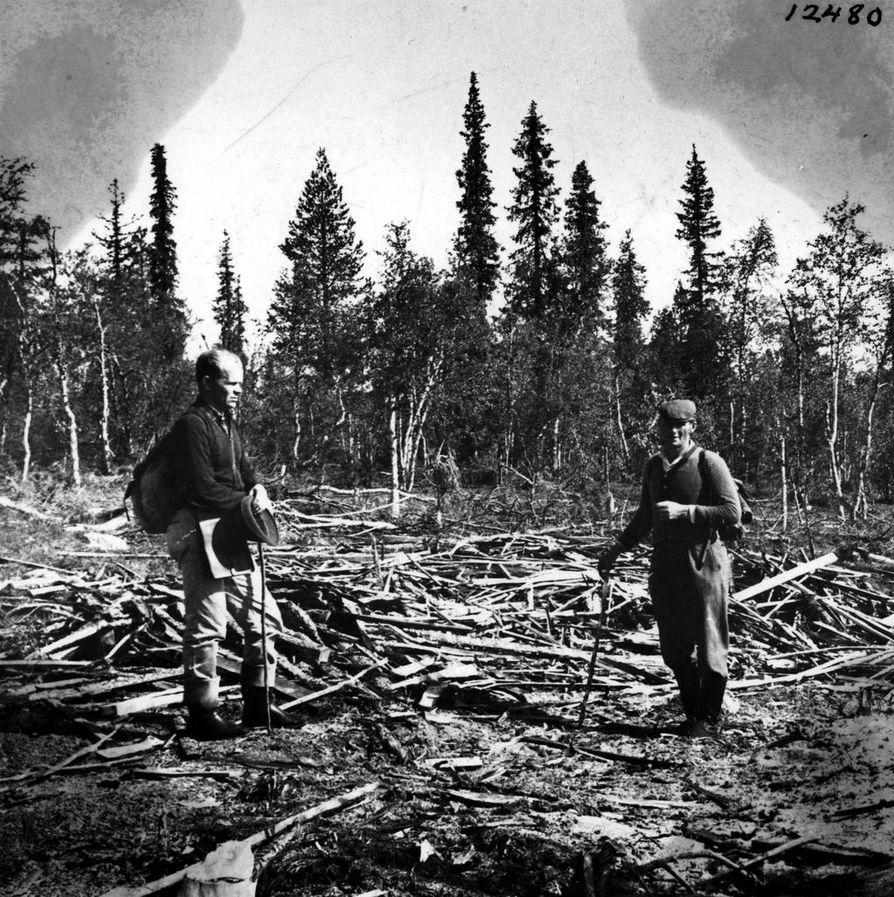 Anjaa etsittiin maastosta toukokuussa 1963.