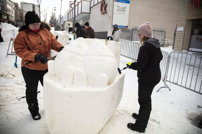 Lumivisio virtuaalisena – Lunta voi veistää monenlaisilla eri välineillä