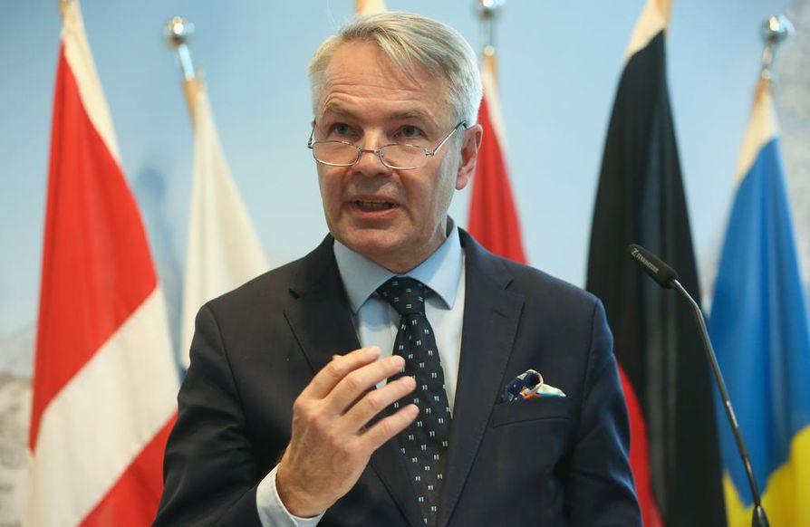 Ulkoministeri Pekka Haavisto (vihr.) vieraili Ukrainassa torstaina ja perjantaina. Arkistokuva.