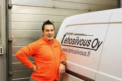 Oulaistelainen Arto Hintsala hyppäsi kaupalliselta alalta siivousalalle, osti Pohjolan Tehosiivous Oy:n ja on tyytyväinen tekemäänsä kauppaan