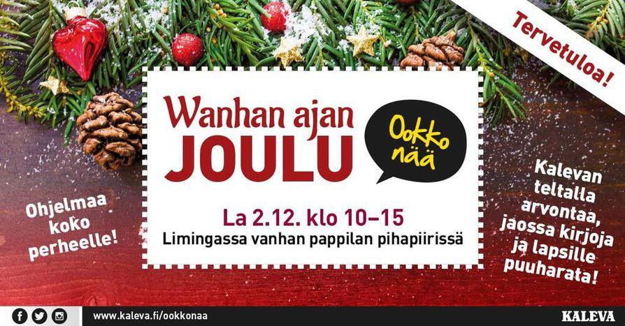 vanhanajan joulu liminka 2018 Ookkonää Wanhan ajan Joulu  tapahtumassa Limingassa | Tapahtumat  vanhanajan joulu liminka 2018