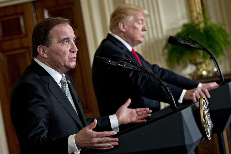 Hermostusta herättäneet aikeet tuontitulleista olivat vahvassa roolissa Yhdysvaltojen presidentin Donald Trumpin ja Ruotsin pääministerin Stefan Löfvenin tapaamisessa.