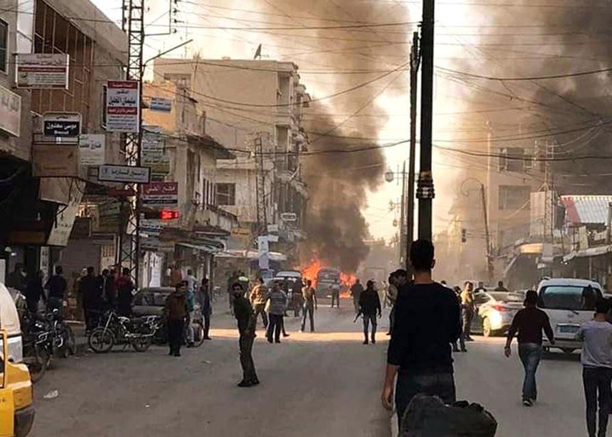 Levottomuudet Syyriassa ovat jatkuneet, vaikka Isisin vaikutusvalta on merkittävästi vähentynyt. Marraskuun alussa räjähtäneet autopommit nostattivat savupatsaan Damaskoksessa.
