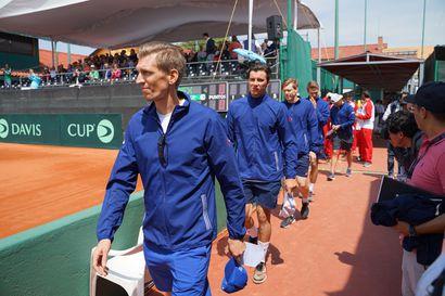 Suomi ja Meksiko tasoissa tenniksen Davis cupissa - ratkaisut lauantaina