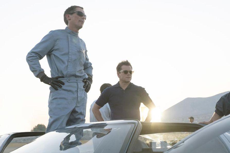 Oscar-voittajat Christian Bale ja Matt Damon loistavat Fordin ja Ferrarin kaksintaistelusta kertovassa kilpa-autoelokuvassa Le Mans 66 – täydellä teholla.