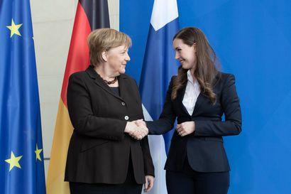 Marin Merkelille: EU-budjetin kehittämisrahoilla maatalous ilmastokestäväksi, 2030 päästötavoite 55 prosenttiin