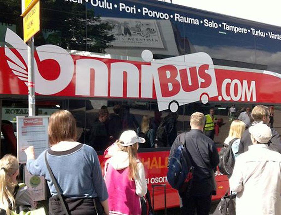 Onnibus.com liikennöi lähes kaikkien Suomen suurimpien kaupunkien välillä.