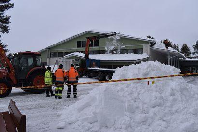 Posion lukion katon korjaus tulee kalliiksi – lumikuorma aiheutti jopa 240 000 euron vahingot