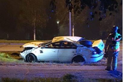 Henkilöauto ajoi ulos lähellä Tornion rajanylityspaikkaa myöhään keskiviikkona – kolme henkilöä kuljetettiin jatkohoitoon