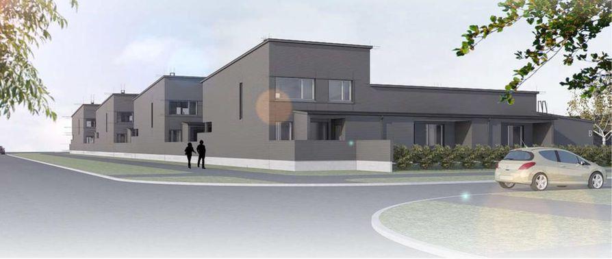 Kivikkokankaalle parhaillaan rakentuva Asunto Oy Oulun Kivenheitto valmistuu aikataulun mukaan vuoden loppuun mennessä.