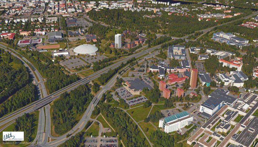 Yhdessä tornitalot muodostaisivat Oululle uuden portin.