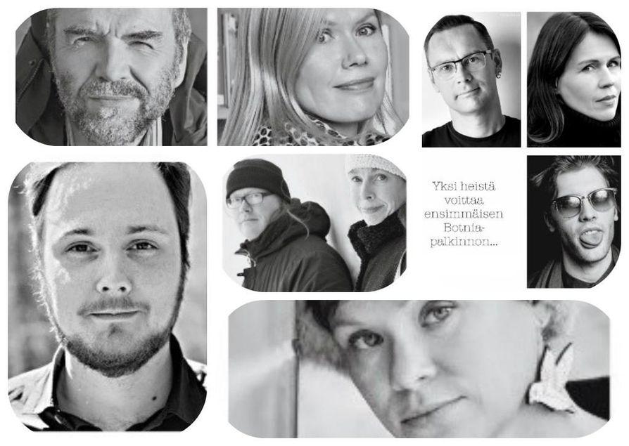 Kahdeksan teoksen kirjailijat ovat ehdolla.