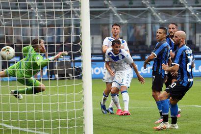 Brescia hävisi Interille kovin luvuin – Joronen päästi pallon maaliin kuusi kertaa