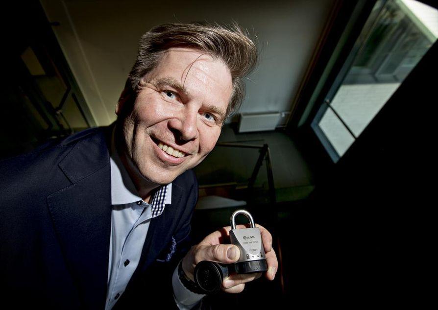 Toimitusjohtaja Heikki Hiltunen sanoo, että iLOQ Oy tarvitsee Oulussa lisää työvoimaa yrityksen kasvua tekemään.
