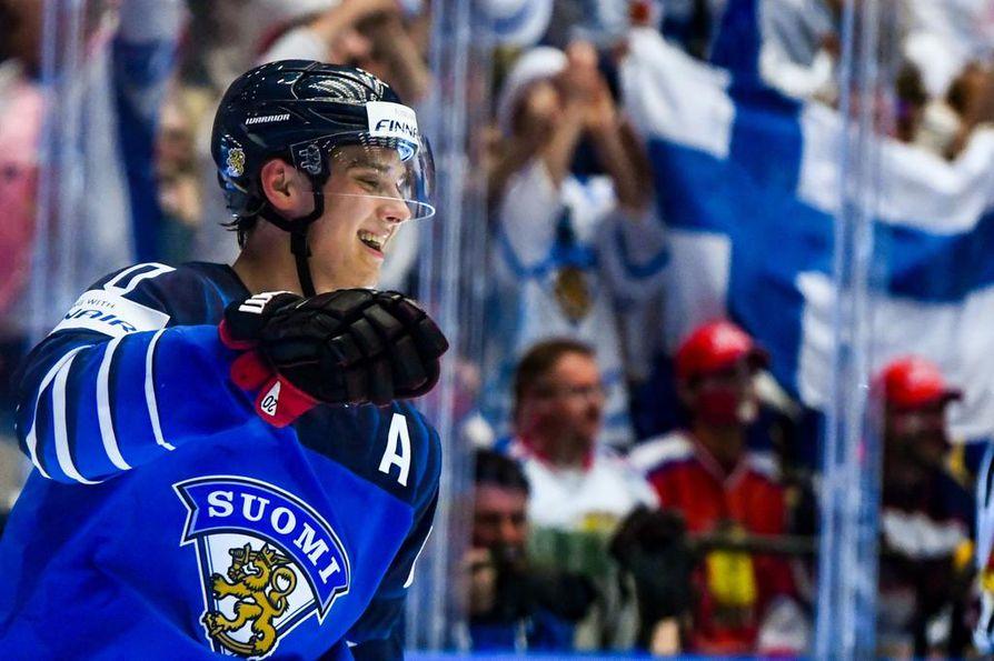 Sebastian Aho on ollut Suomen johtava pelaaja MM-kisoissa.