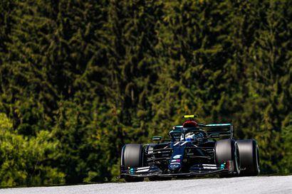 Bottas täynnä itseluottamusta Itävallan toiseen F1-kisaan - Ukkosmyräkkä saattaa tyrmätä aika-ajot. Perjantain toinen harjoitussessio voi olla lopullinen lähtöjärjestys