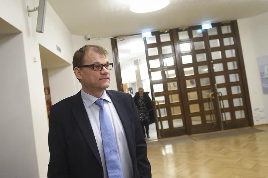 Pääministeri Juha Sipilä (kesk.).