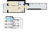 Silmiinpistävänä erikoisuutena ylimmän kerroksen asunnossa on eteisen toiselle puolelle jäävä valtavan kokoinen ylimääräinen parveke, joka on kooltaan peräti noin puolet asunnon pinta-alasta.