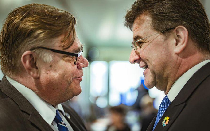 YK:n yleiskokouksen puheenjohtaja Miroslav Lajcak tapasi Kultarannassa ulkoministeri Timo Soinin.