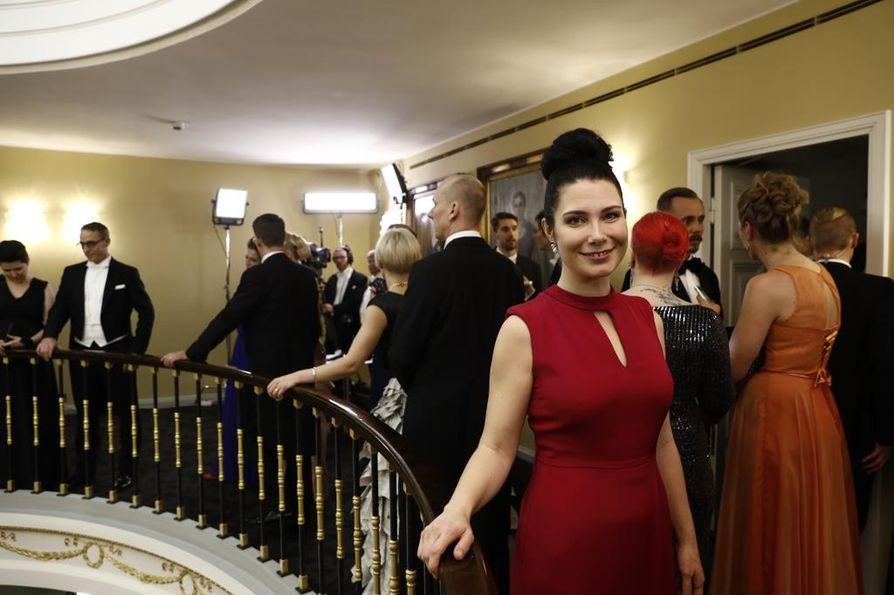 Emma Karin Linnan juhlissa käyttämään pukuun liittyy erityinen tarina.