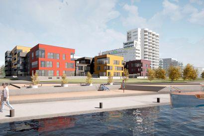 Toppilansalmen uusimmat asuinkerrostalot hehkuvat pirteissä väreissä