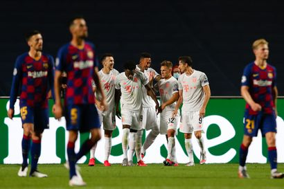 Bayern München murjoi Barcelonan Mestarien liigassa maanrakoon: 8-2