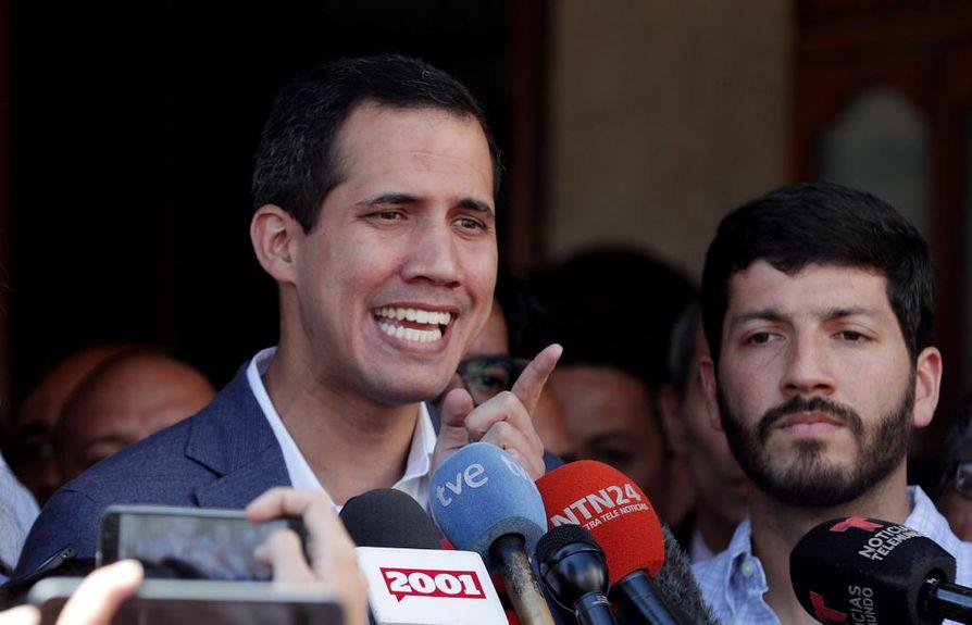 Suomi tunnusti Venezuelan oppositiojohtajan Juan Guaidón maan väliaikaiseksi presidentiksi maanantaina.