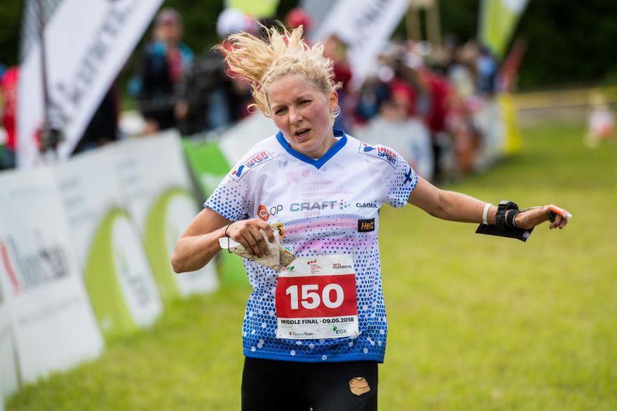 Marika Teini on tällä kaudella voittanut keskimatkan EM-kultaa ja MM-hopeaa.