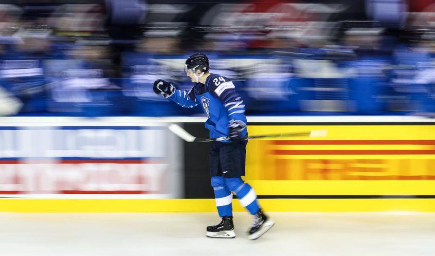 Kaapo Kakko on iskenyt kisoissa jo viisi maalia.