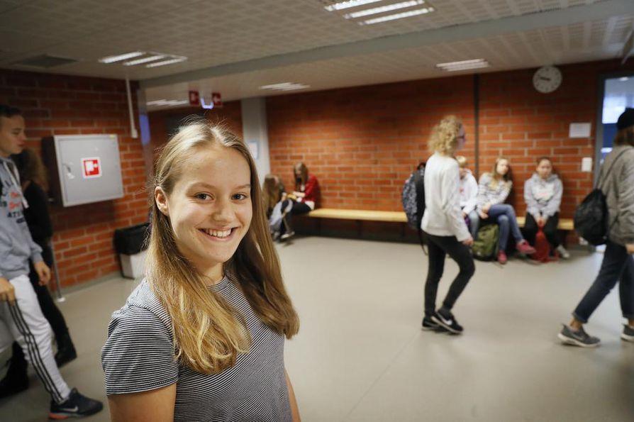 Saana Sadinmäki, 8D Rajakylän koulusta.