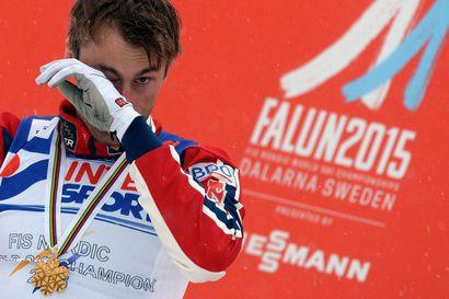 Norjan hiihdon kultapoikaa odottaa jalkapantarangaistus