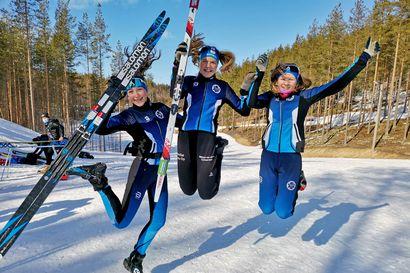 Limingan Niittomiesten viestijoukkue viides Hopeasompa-kisoissa Vuokatissa – Nelli-Lotta Karppelin hiihti henkilökohtaisilla matkoilla SM-kullan ja hopean