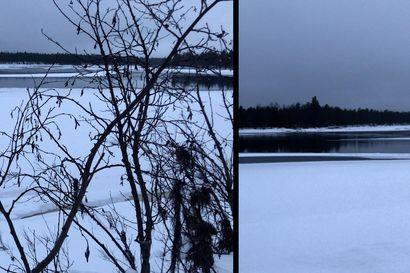 Ruotsin ja Suomen erottava Muonionjoki on edelleen sulana, vaikka on jo joulu