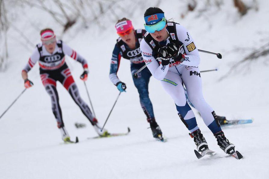 Naiset hiihtävät sunnuntaina 30 kilometrin matkan. Krista Pärmäkoski on Suomen suurimpia mitalitoivoja.