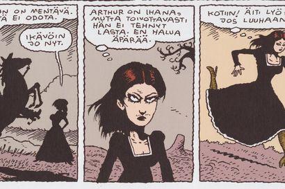 """Sarjakuva-arvio: Juba Tuomolan lännentarinassa Hurja-Hilda nuori nainen kääntyy kostajaksi: """"Tekijän liioittelu kääntää sävyt useimmiten mustan huumorin puolelle"""""""
