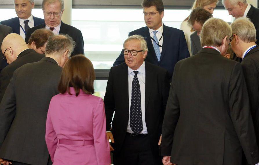 Euroopan komission puheenjohtaja Jean-Claude Juncker esitti Euroopan parlamentille näkemyksensä EU:n tulevaisuudesta. Kuva viime viikolta.