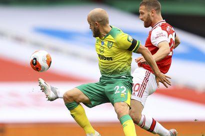 Arsenal murjoi sarjajumbo Norwichia - Teemu Pukki otettiin jo tauolla vaihtoon
