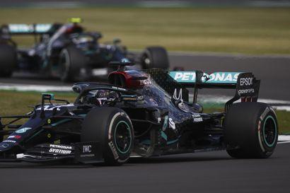 Mercedeksen rengasdraama aiheutti Bottakselle karvaan pettymyksen Britannian gp:ssä, Kimi Räikkösen kisa oli pannukakku