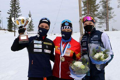 30 kilometrin SM-kisa oli Riitta-Liisa Roposen näytöstä, Visa Ski Team Kemille Marja-Liisan pokaali