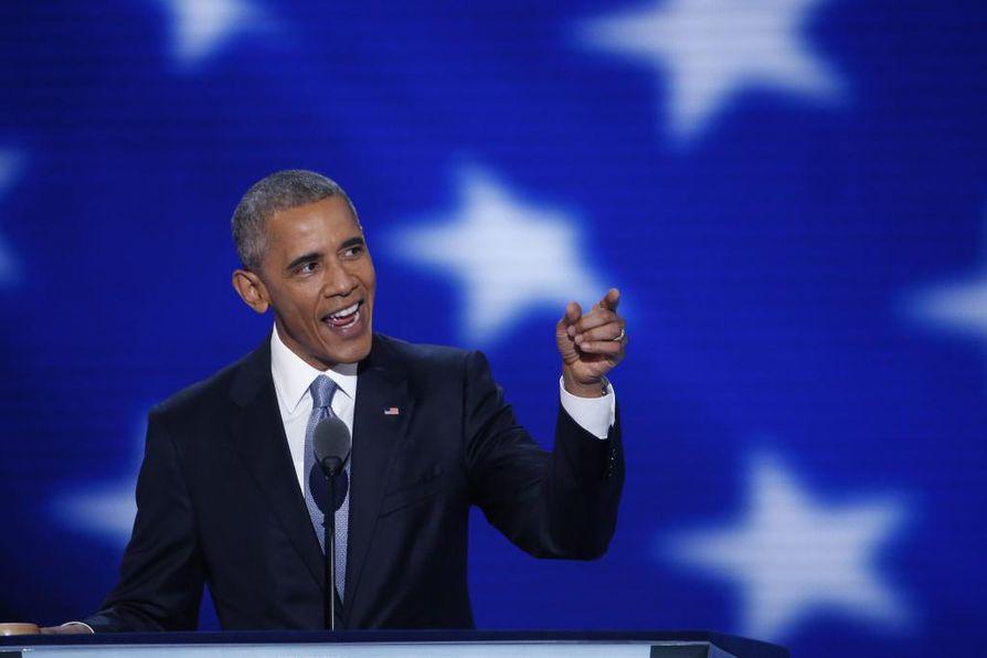 Yhdysvaltain presidentti Barack Obama korosti puheessaan tulevaisuudenuskoa ja toivoa.