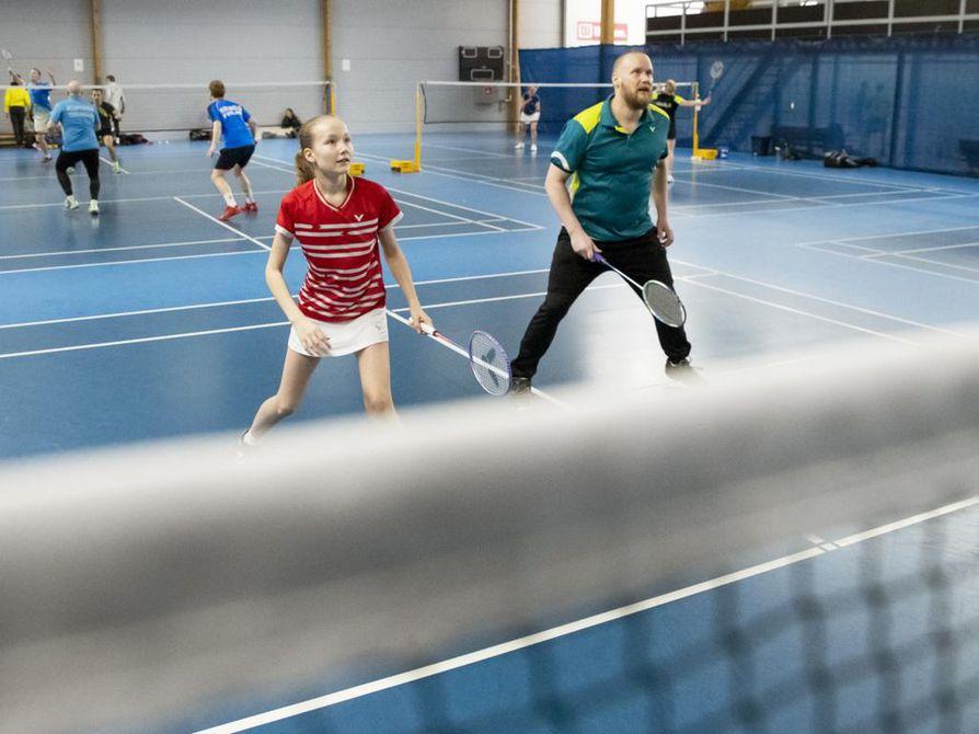 Nella ja Ilkka Nyqvist pelasivat viikonloppuna ensimmäistä kertaa nelinpeliparina.