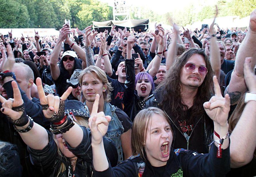 Metallin pääkaupunki julkistetaan ensi viikolla. Nämä metallimusiikin ystävät liputtivat Tampereen puolesta viime viikonloppuna South Park -festivaaleilla.