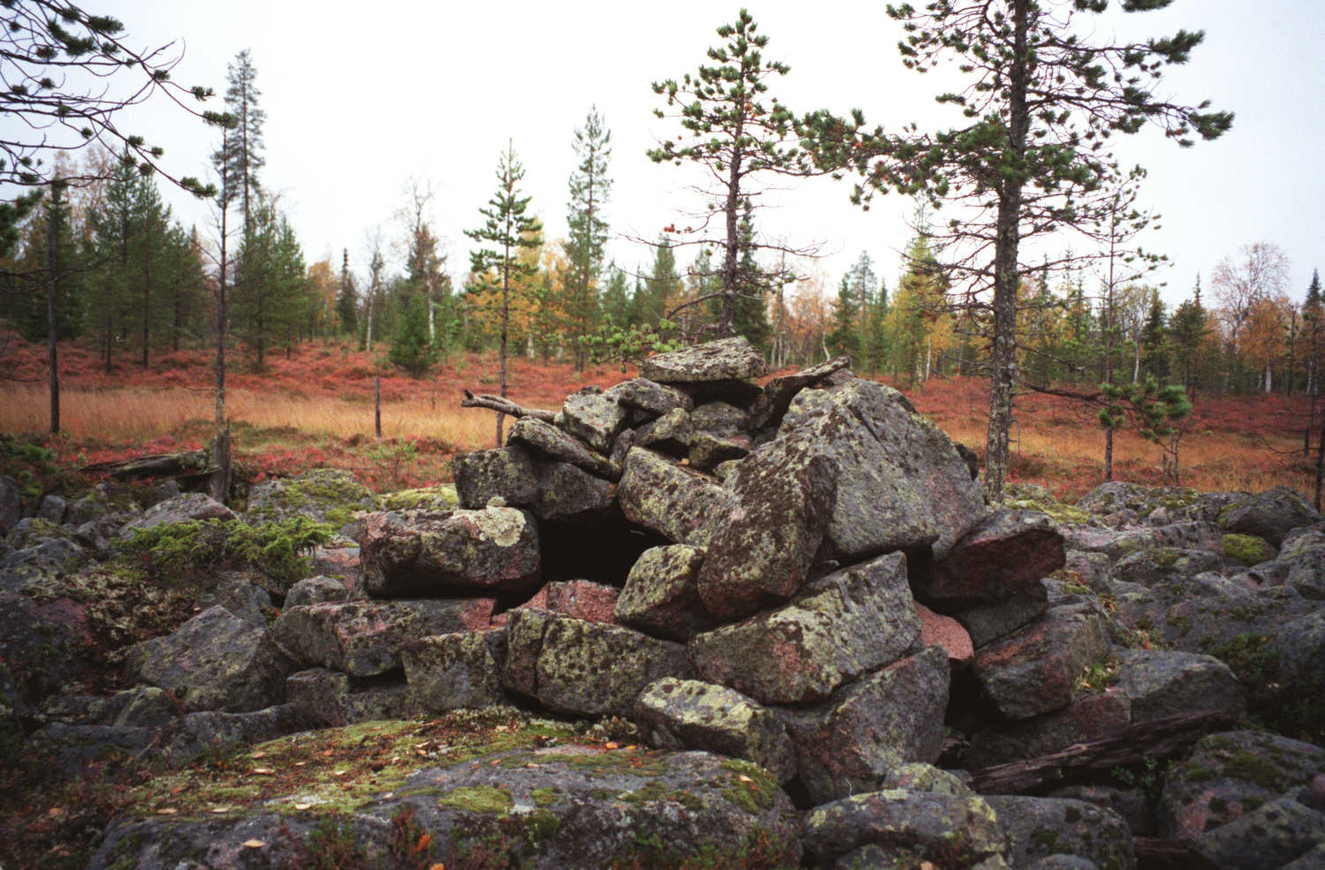 Tämä kivikasa on itse asiassa vanha leivinuuni muinaisen kalakentän reunassa Pyhäojan varressa Naarmankairassa