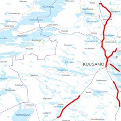 Kuusamossa päällystetään kesällä pitkiä pätkiä _ Rukajärventielle, Vuotungintielle ja Tolpanniemeen uusi pinta